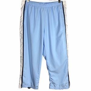 Nike Cropped Athletic Pants Blue White Size Large